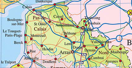 Close Up of Calais Region