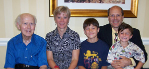 Photo of Rowan with family of Kirwood A. LeCompte